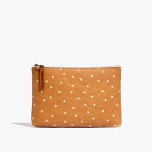 Madewell • NWT • Small Zip Pouch in Stars